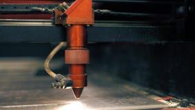 Tratamiento superficial industrial en el vídeo del taller almacen de metraje de vídeo