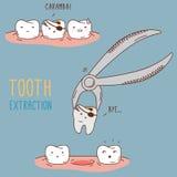 Tratamiento y cuidado de los dientes Colección dental de Imagen de archivo