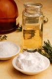 Tratamientos de la belleza del aceite de oliva Imágenes de archivo libres de regalías