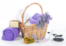 Tratamientos de la salud con las flores de la lavanda Fotos de archivo