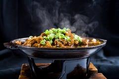 Tratar el alimento con vapor chino Fotografía de archivo
