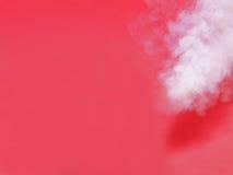 Tratar el fondo con vapor rojo Foto de archivo libre de regalías