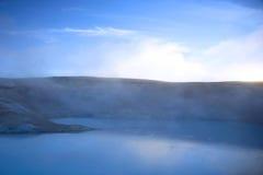 Tratar la piscina del sulfuro con vapor Fotografía de archivo