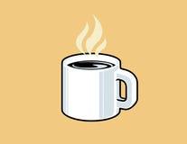 Tratar la taza con vapor de café Fotografía de archivo