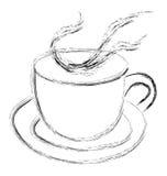 Tratar la taza con vapor de té o de café Imágenes de archivo libres de regalías