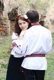 Trate el abrazo con suavidad Fotos de archivo