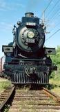 Trate el tren con vapor Imagen de archivo libre de regalías