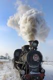 Trate el tren con vapor Foto de archivo