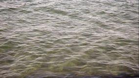Trate las ondas con suavidad el clip video del fondo o del título almacen de metraje de vídeo