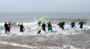 Trathlon zwemt royalty-vrije stock fotografie