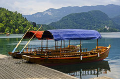 Tratidional-Sloweneboote stockfotos