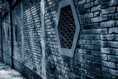 Trational-Ziegelsteinfenster im chinesischen Garten Lizenzfreie Stockbilder