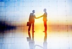 Trato Collaborati del éxito del saludo del acuerdo del negocio del apretón de manos stock de ilustración
