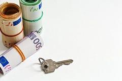 Trato de las propiedades inmobiliarias del efectivo Fotografía de archivo libre de regalías