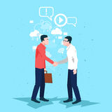 Trato de sacudida de la mano de Handshake Business People del hombre de negocios libre illustration