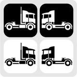 Trator-caminhão-cabine-ícone Fotografia de Stock Royalty Free