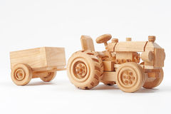 Trator de madeira fotografia de stock