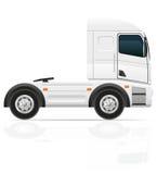 Trator grande do caminhão para a ilustração do vetor da carga do transporte Foto de Stock