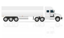 Trator grande do caminhão para a ilustração do vetor da carga do transporte Fotografia de Stock