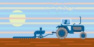 Trator no campo Imagem de Stock