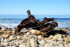 Trator oxidado Fotos de Stock Royalty Free