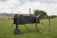 Trator velho funky em Masonville, CO Fotografia de Stock Royalty Free