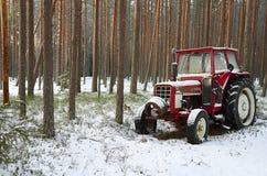 Trator vermelho Foto de Stock