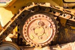 Tratores de aço da roda Imagens de Stock