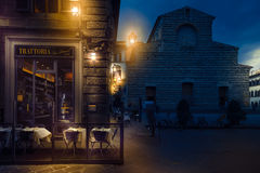 Tratoria圣洛伦佐餐馆在佛罗伦萨 库存照片