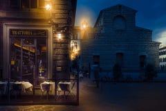 Tratoria San Lorenzo restauracja w Florencja Zdjęcia Stock