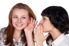 Tratsch mit zwei Mädchen Lizenzfreie Stockfotos