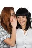 Tratsch mit zwei Mädchen Stockfotografie
