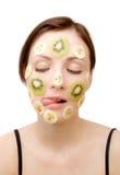 Trattamento al gusto di frutta del fronte Fotografia Stock
