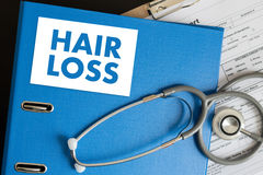 trattamento calvo della medicina del haircare di perdita dell'aria di alopecia, perdita di capelli Immagine Stock