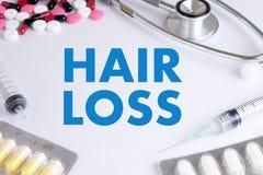 trattamento calvo della medicina del haircare di perdita dell'aria di alopecia, perdita di capelli Immagine Stock Libera da Diritti