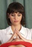 Trattamento con la meditazione Fotografie Stock Libere da Diritti