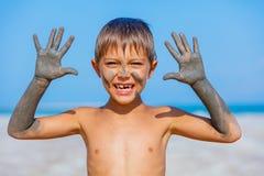 Trattamento del bagno di fango del mar Morto Immagine Stock