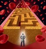 Trattamento del colesterolo Immagini Stock