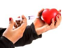 Trattamento del cuore Immagini Stock Libere da Diritti