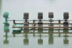 Trattamento del turbinewater dell'aeratore Fotografia Stock