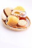 Trattamento della stazione termale e del miele Fotografia Stock