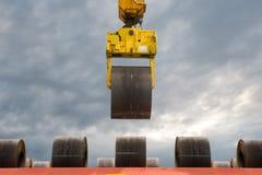 Trattamento delle bobine dell'acciaio Fotografia Stock