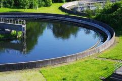 Trattamento di acqua di scarico Fotografie Stock Libere da Diritti
