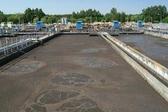 Trattamento di acqua di scarico Immagine Stock Libera da Diritti