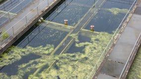 Trattamento di acqua di scarico Immagine Stock