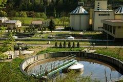 Trattamento di acque di rifiuto Fotografie Stock Libere da Diritti