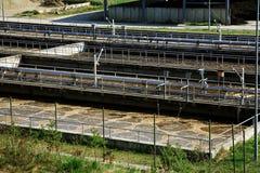 Trattamento di acque di rifiuto Fotografia Stock Libera da Diritti