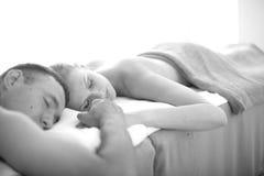 Trattamento di massaggio per le coppie Fotografia Stock