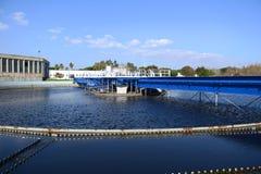 Trattamento di pulizia delle acque reflue Fotografia Stock