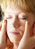 Trattamento facciale Fotografie Stock Libere da Diritti